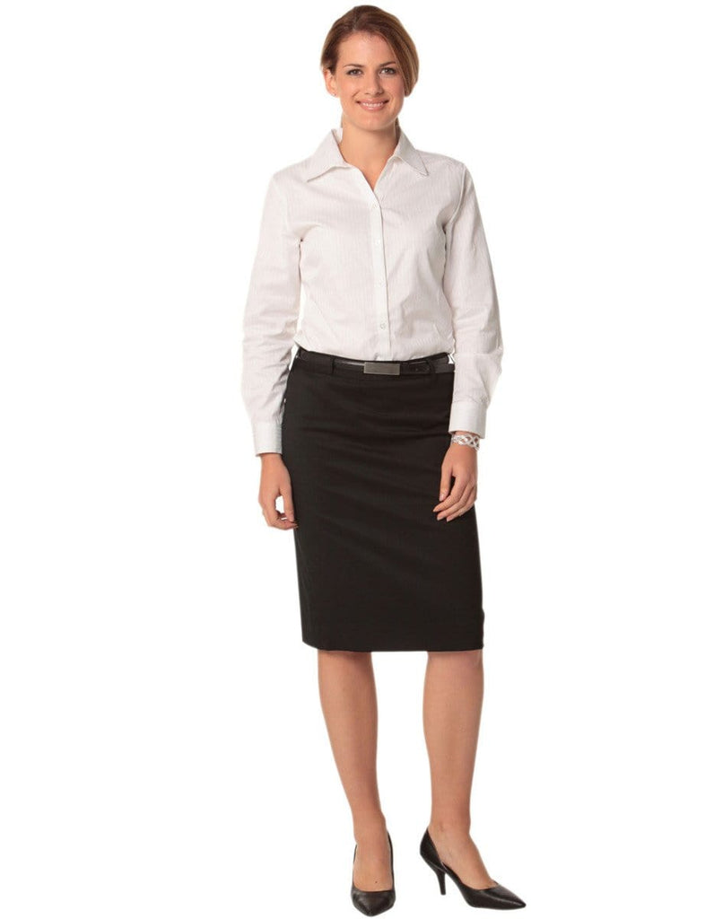 Benchmark Corporate Wear BENCHMARK Women's Poly/Viscose Stretch Mid Length Lined Pencil Skirt M9471