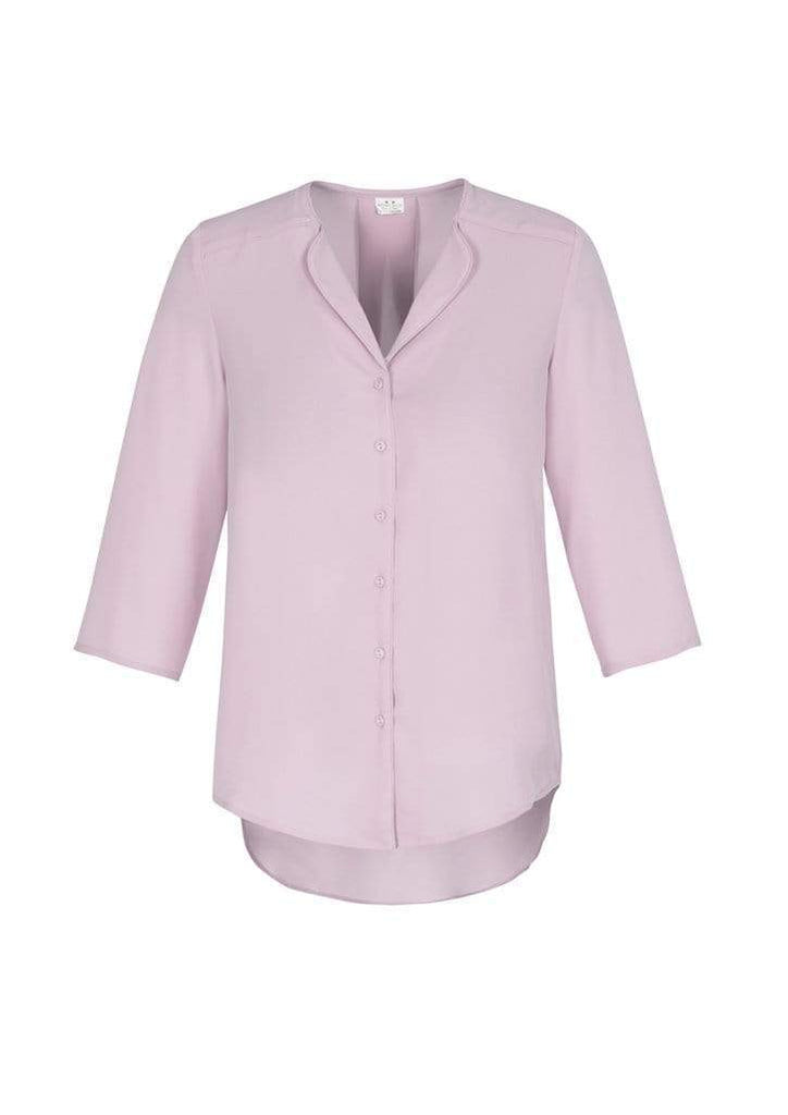 Biz Care Corporate Wear Amethyst / 6 Biz Collection Lily Ladies Longline Blouse S015LT