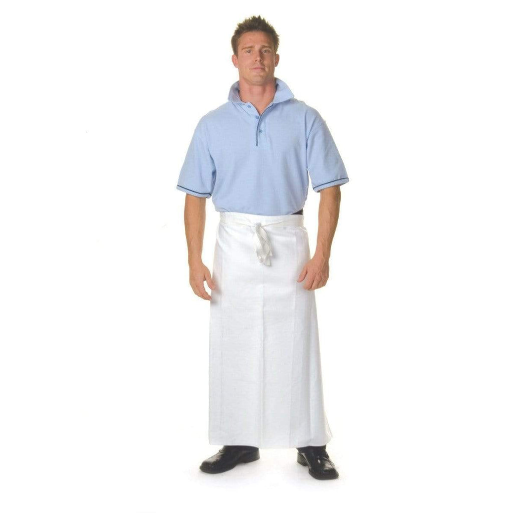 DNC Workwear Hospitality & Chefwear Black / 84cm X 90cm DNC WORKWEAR Cotton Drill Continental Apron No Pocket 2402
