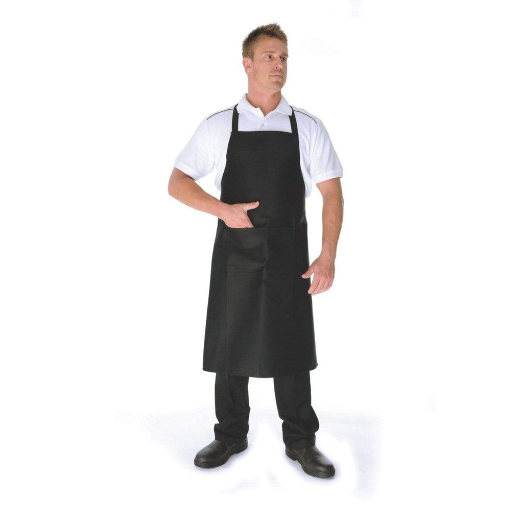 DNC Workwear Hospitality & Chefwear Black / 80cm X 90cm DNC WORKWEAR Cotton Drill Full Bib Apron No Pocket 2502