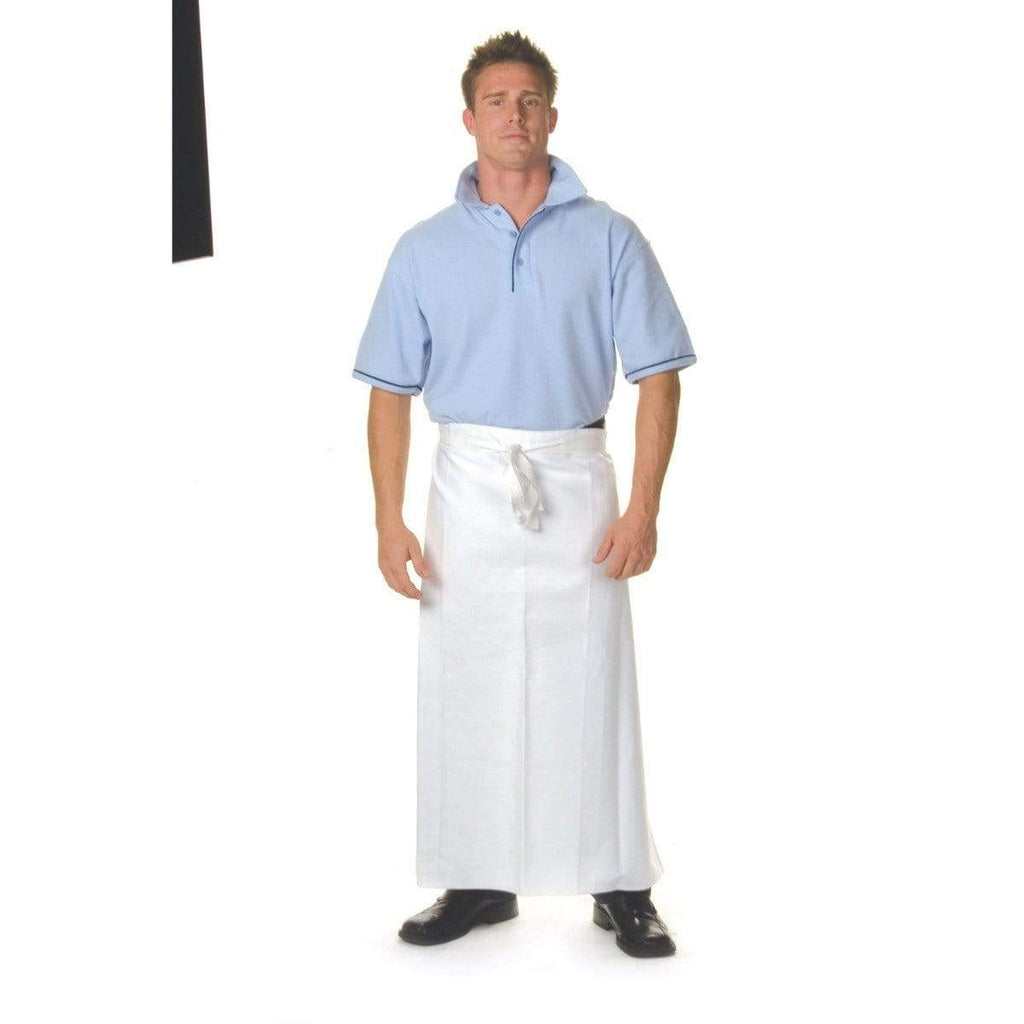 DNC Workwear Hospitality & Chefwear Navy / 84cm X 90cm DNC WORKWEAR Polyester Cotton Continental Apron No Pocket 2412