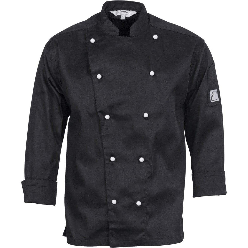 DNC Workwear Hospitality & Chefwear DNC WORKWEAR Three-Way Airflow Long Sleeve Chef Jacket 1106