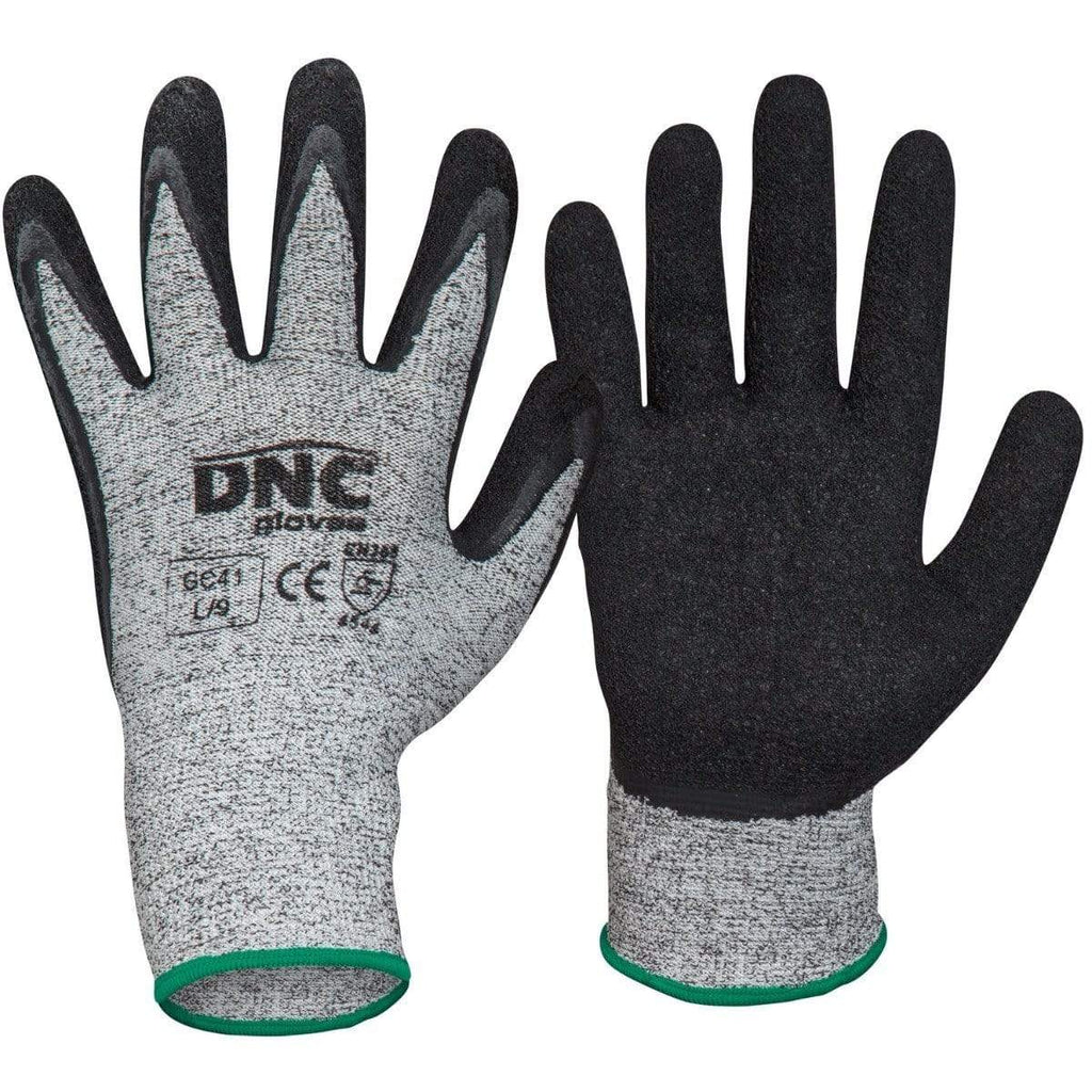 DNC Workwear PPE Black/Grey / 2XL/11 DNC WORKWEAR Cut5- Latex GC41