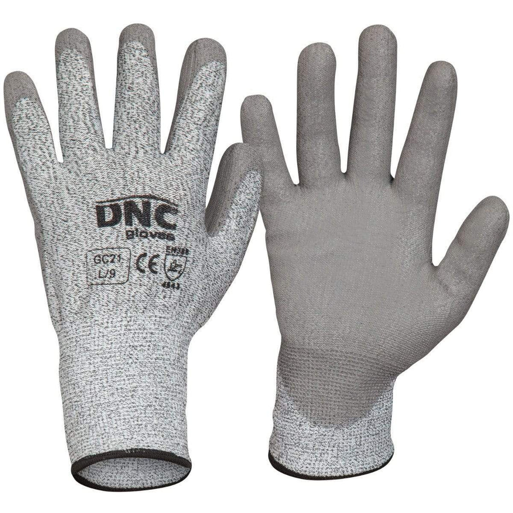 DNC Workwear PPE Grey/Grey / 2XL/11 DNC WORKWEAR Cut5- PU GC21