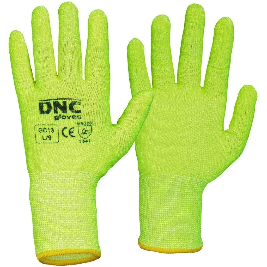 DNC Workwear PPE HiVis Yellow / 2XL/11 DNC WORKWEAR Hivis Cut5 Liner GC13