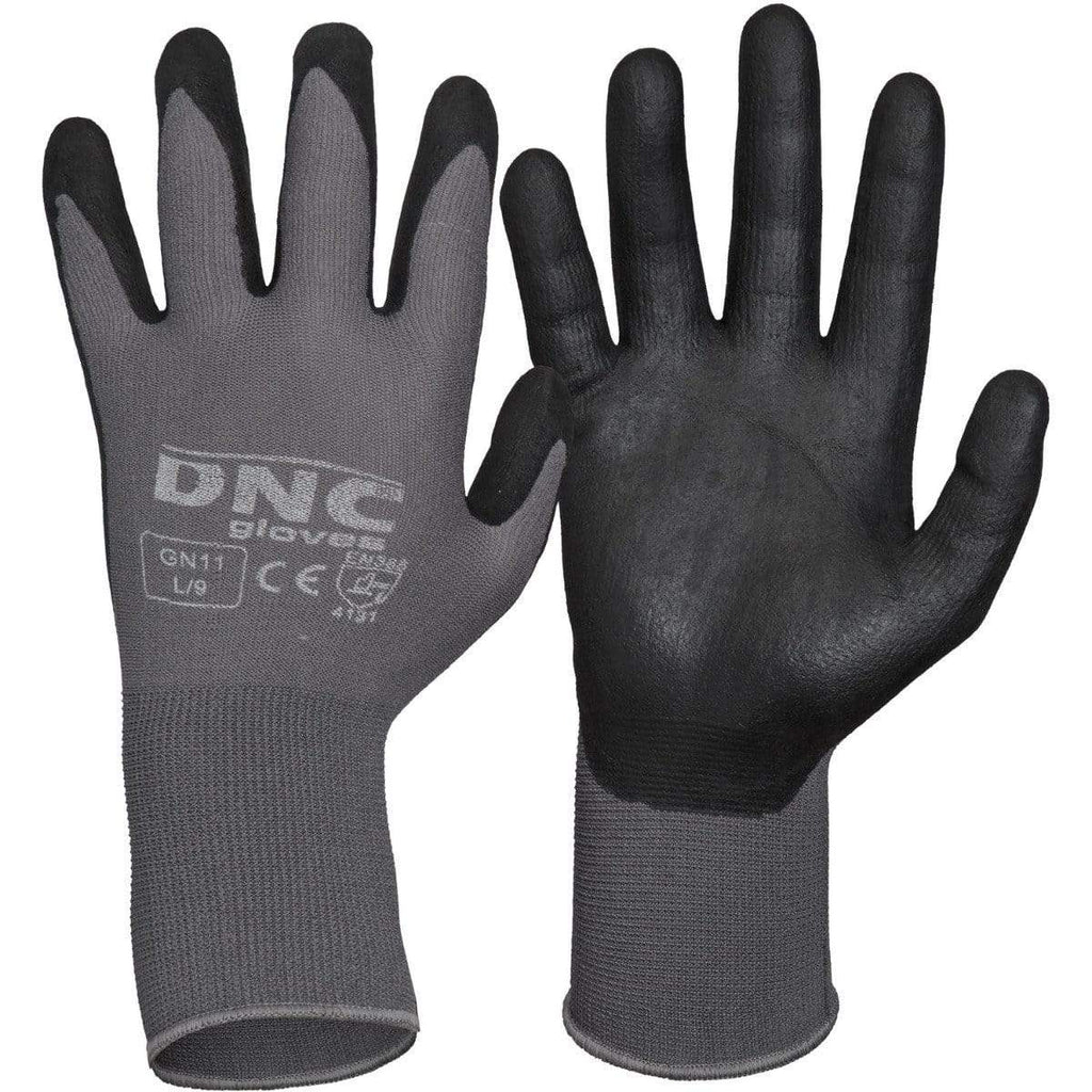 DNC Workwear PPE Black/Grey / 2XL/11 DNC WORKWEAR Premium Nitrile Supaflex Palm GN11