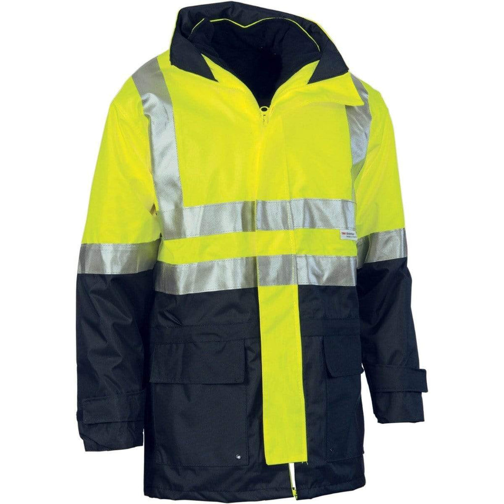 DNC Workwear Work Wear Yellow/Navy / S DNC WORKWEAR 4-in-1 Hi-Vis Two-Tone Breathable Jacket with Vest and 3M Reflective Tape 3864