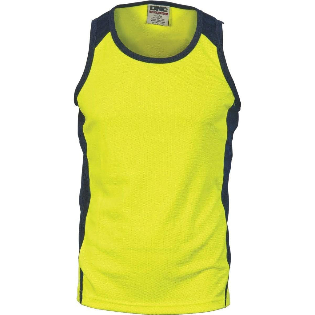 DNC Workwear Work Wear DNC WORKWEAR Cool Breathe Action Singlet 3842