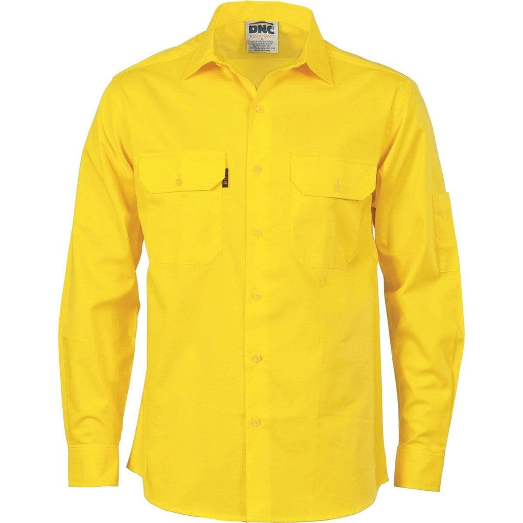 DNC Workwear Work Wear DNC WORKWEAR Cool-Breeze Cotton Long Sleeve Work Shirt 3208