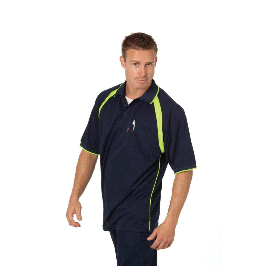 DNC Workwear Work Wear DNC WORKWEAR Coolbreathe Short Sleeve Contrast Polo 5216