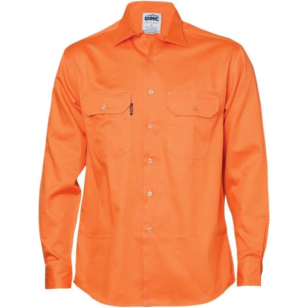 DNC Workwear Work Wear DNC WORKWEAR Cotton Drill Long Sleeve Work Shirt 3202