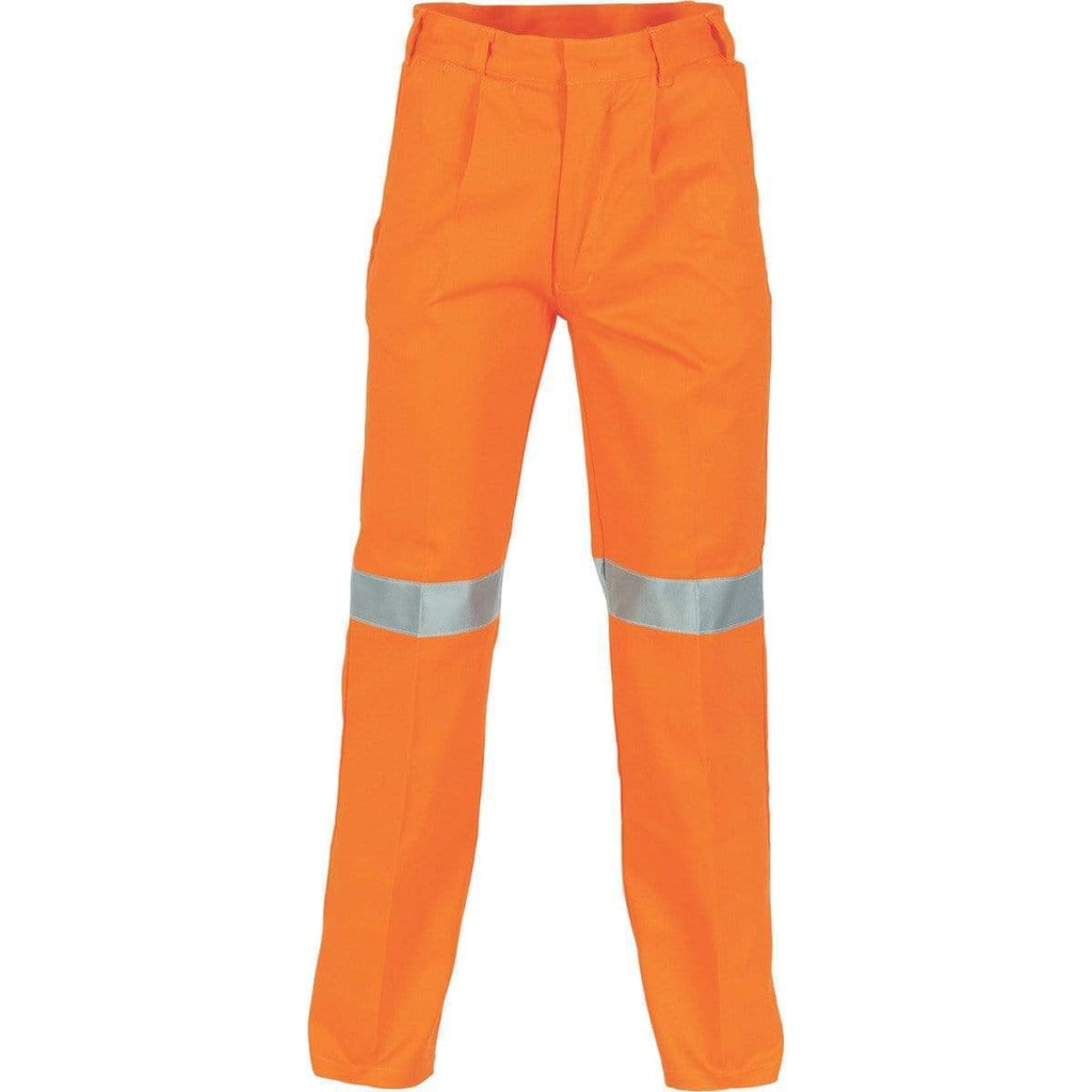DNC Workwear Work Wear DNC WORKWEAR Cotton Drill Pants With 3M Reflective Tape 3314
