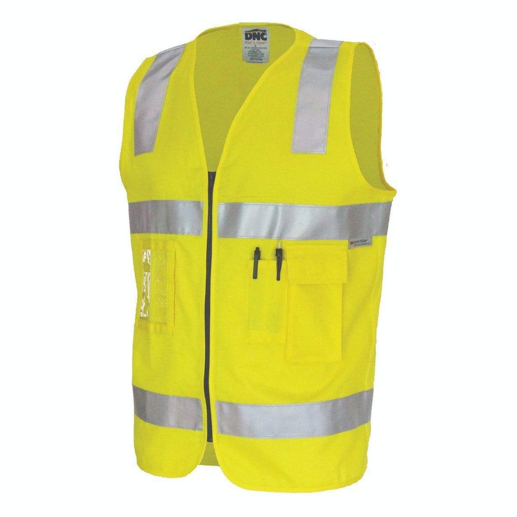 DNC Workwear Work Wear DNC WORKWEAR Day/Night Cotton Safety Vest 3809