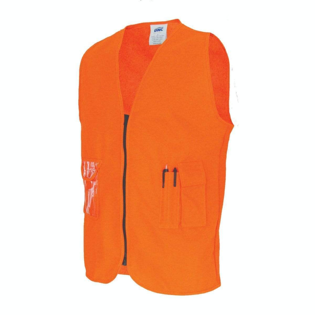 DNC Workwear Work Wear DNC WORKWEAR Daytime Side Panel Safety Vest 3806