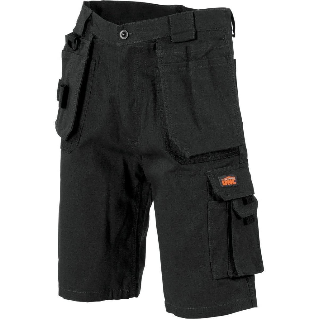 DNC Workwear Work Wear DNC WORKWEAR Duratex Cotton Duck Weave Tradies Cargo Shorts - With Twin Holster Tool Pocket 3336