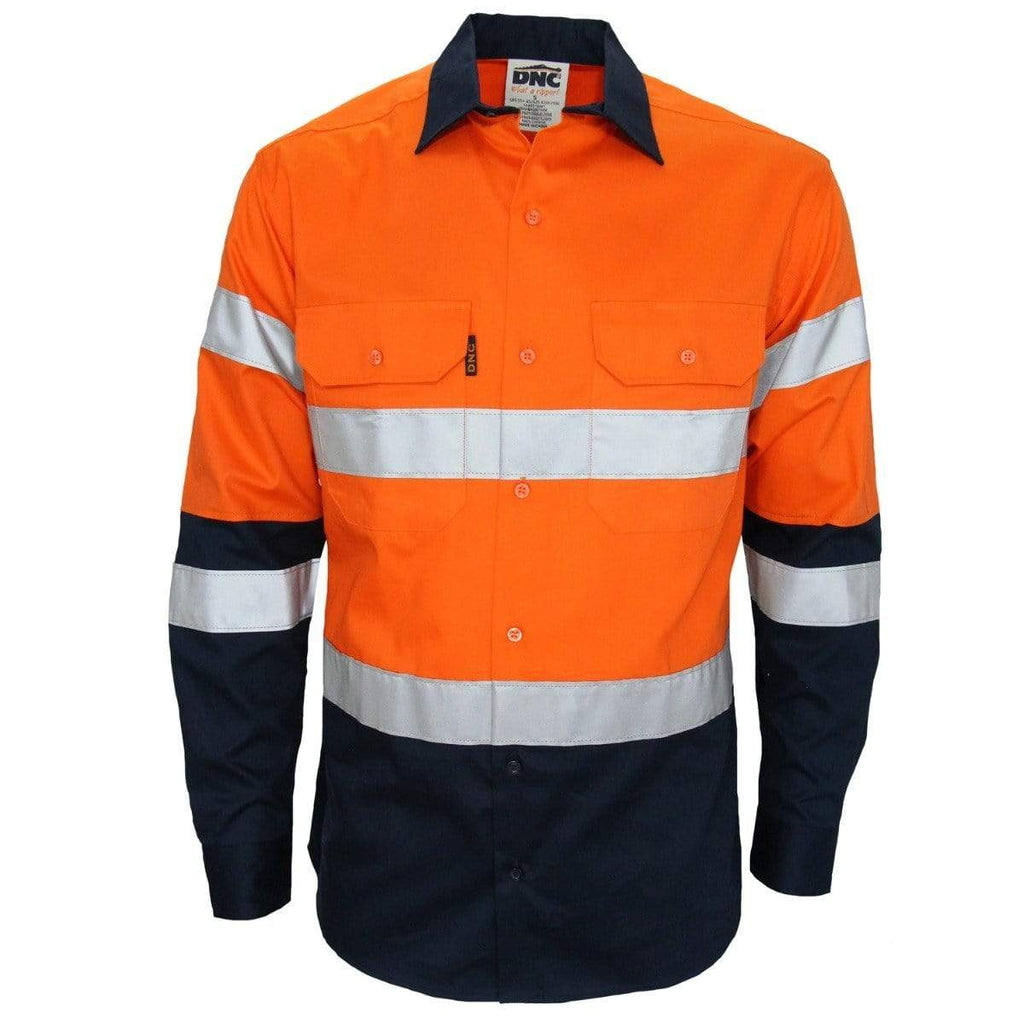 DNC Workwear Work Wear DNC WORKWEAR Hi-Vis 2-tone Bio-Motion Taped Shirt 3976