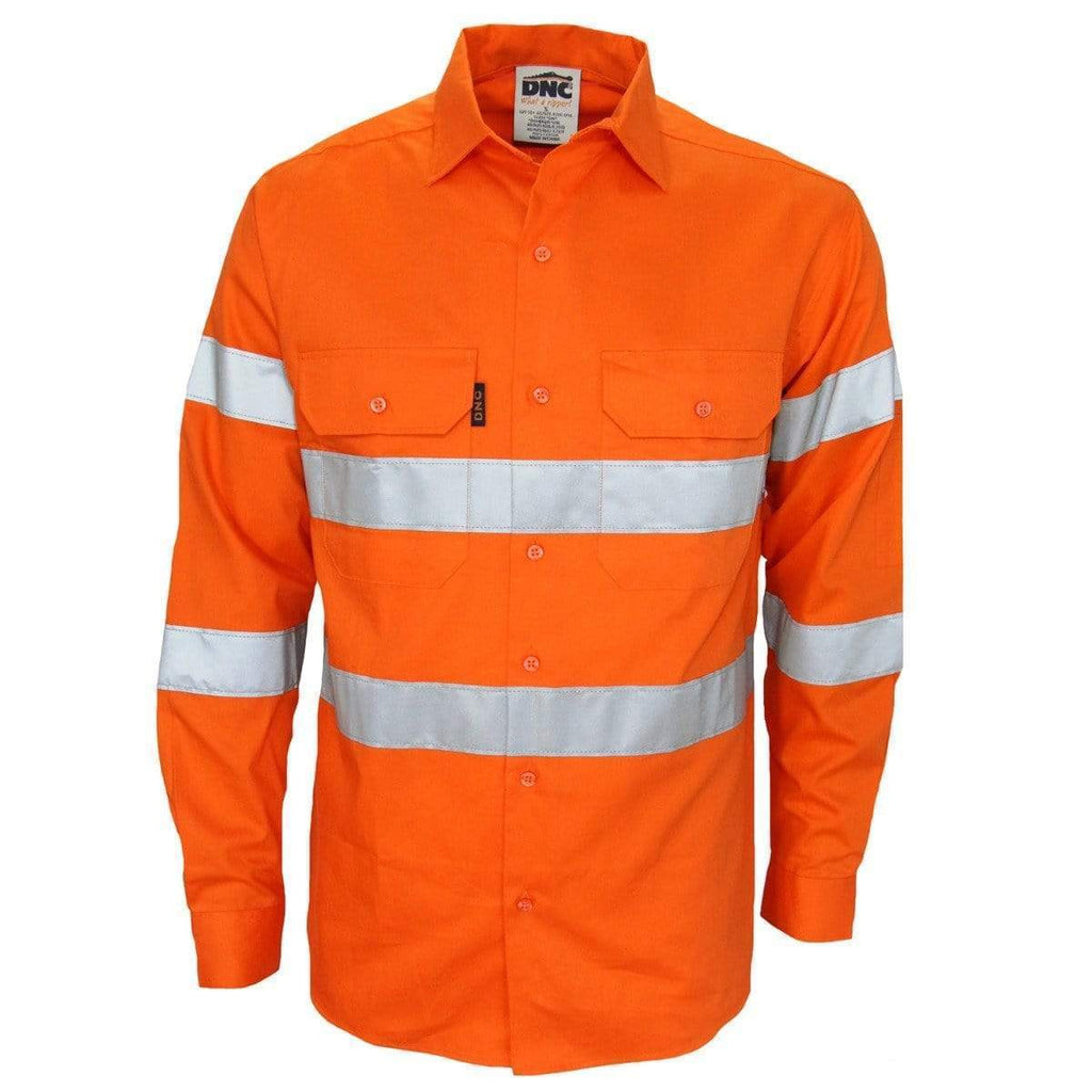 DNC Workwear Work Wear DNC WORKWEAR Hi-Vis Bio-Motion Taped Shirt 3977