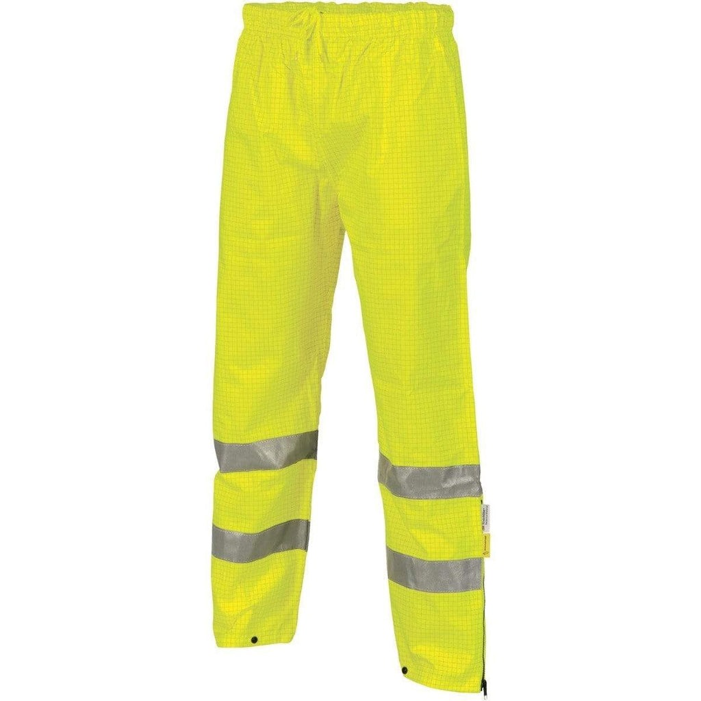 DNC Workwear Work Wear Yellow / S DNC WORKWEAR Hi-Vis Breathable and Anti-Static Pants with 3M Reflective Tape 3876