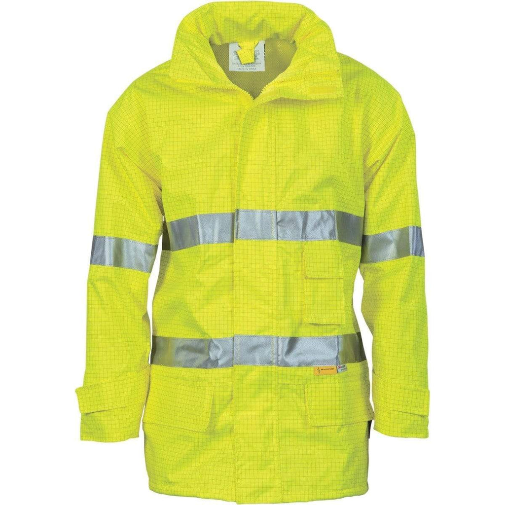 DNC Workwear Work Wear Yellow / S DNC WORKWEAR Hi-Vis Breathable Anti-Static Jacket with 3M Reflective Tape 3875
