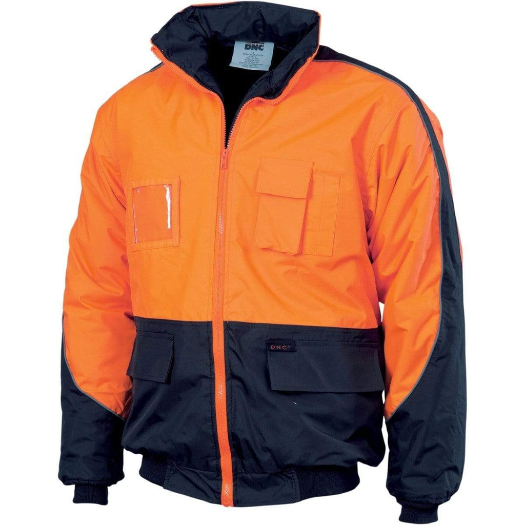 DNC Workwear Work Wear Orange/Navy / XS DNC WORKWEAR Hi-Vis Contrast Bomber Jacket 3991