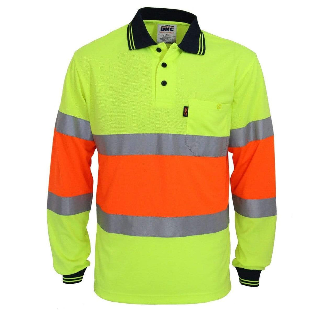 DNC Workwear Work Wear DNC WORKWEAR Hi-Vis Cool-dry 2T Bio-Motion D/N Polo 3709