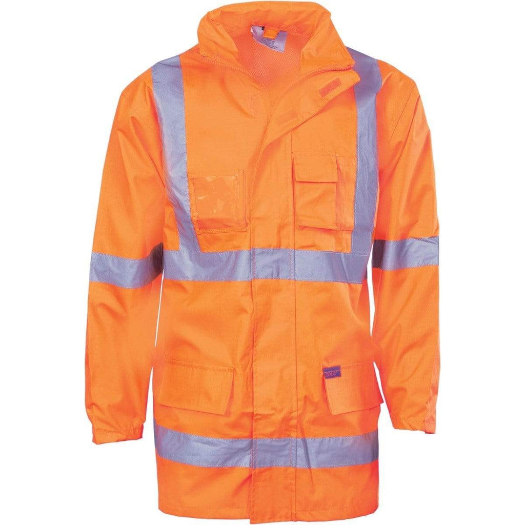 DNC Workwear Work Wear Orange / XS DNC WORKWEAR Hi-Vis Cross-Back D/N 2-in-1 Rain Jacket 3995