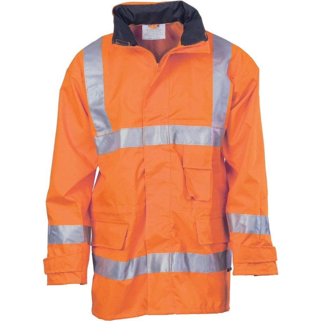 DNC Workwear Work Wear Orange / S DNC WORKWEAR Hi-Vis D/N Breathable Rain Jacket with 3M Reflective Tape 3871