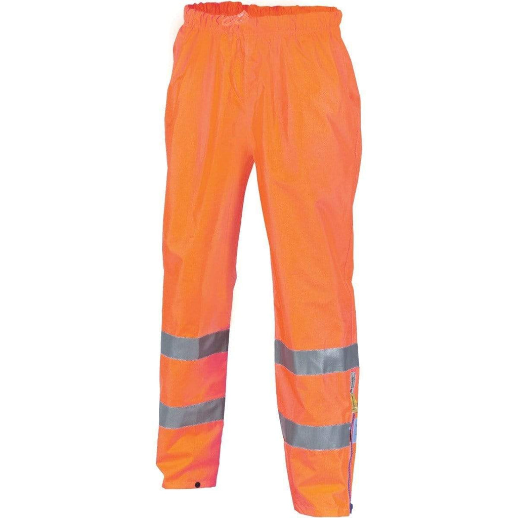DNC Workwear Work Wear Orange / S DNC WORKWEAR Hi-Vis D/N Breathable Rain Pants with 3M Reflective Tape 3872