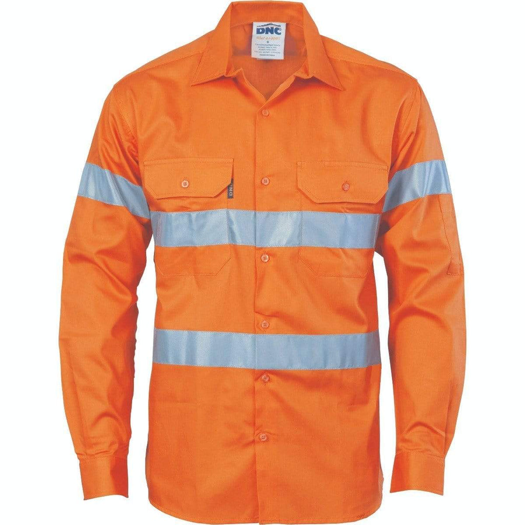DNC Workwear Work Wear Orange / XS DNC WORKWEAR Hi-Vis D/N Drill Shirt 3535