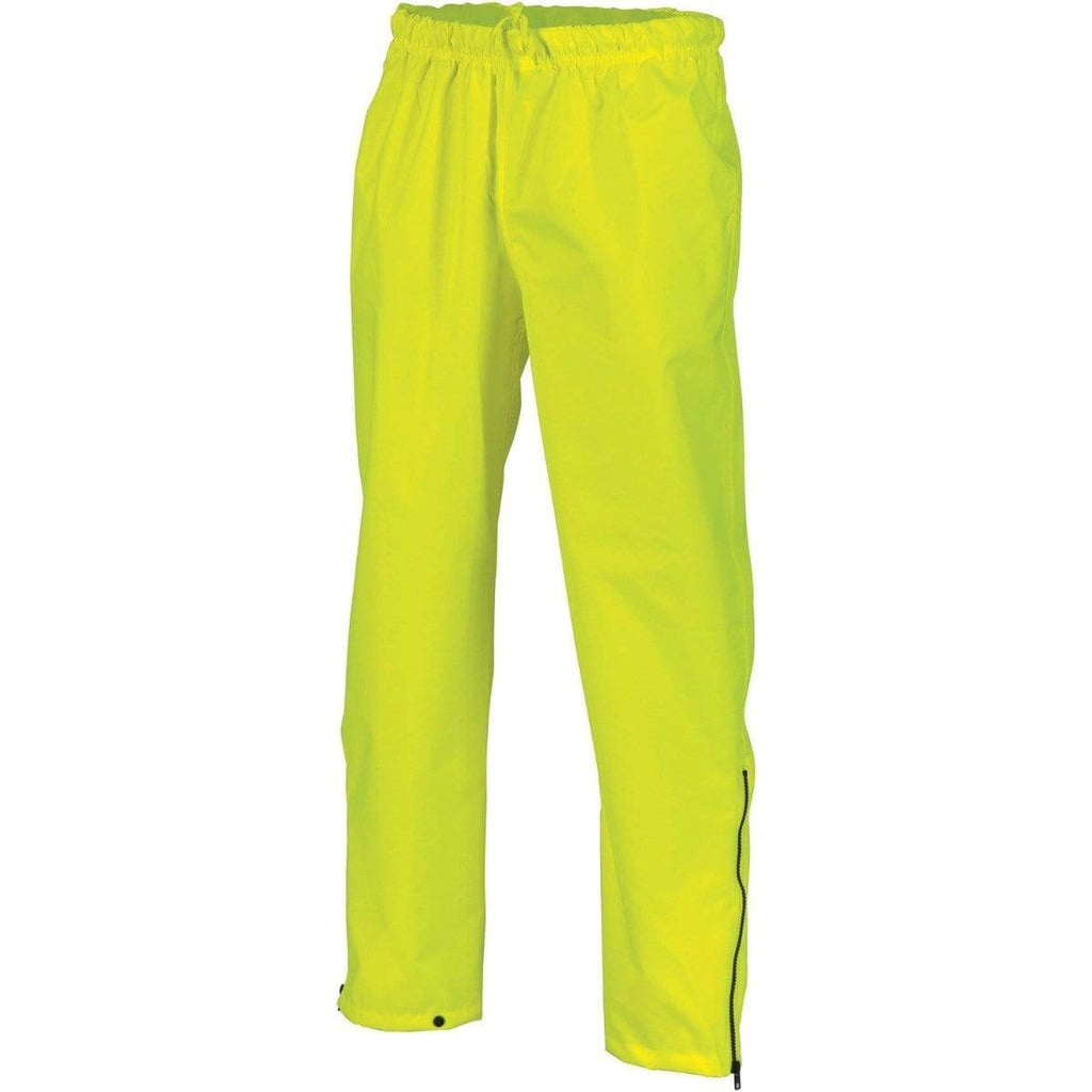 DNC Workwear Work Wear Yellow / S DNC WORKWEAR Hi-Vis Day Breathable Rain Pants 3874
