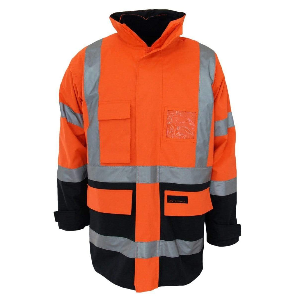 "DNC Workwear Work Wear DNC WORKWEAR Hi-Vis ""H"" pattern 2T Bio-Motion tape 6-in-1 Jacket 3964"
