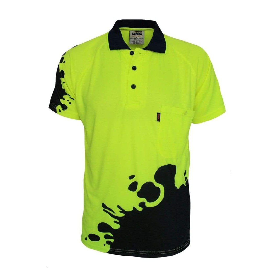 DNC Workwear Work Wear DNC WORKWEAR Hi Vis Sublimated Blot Polo 3567