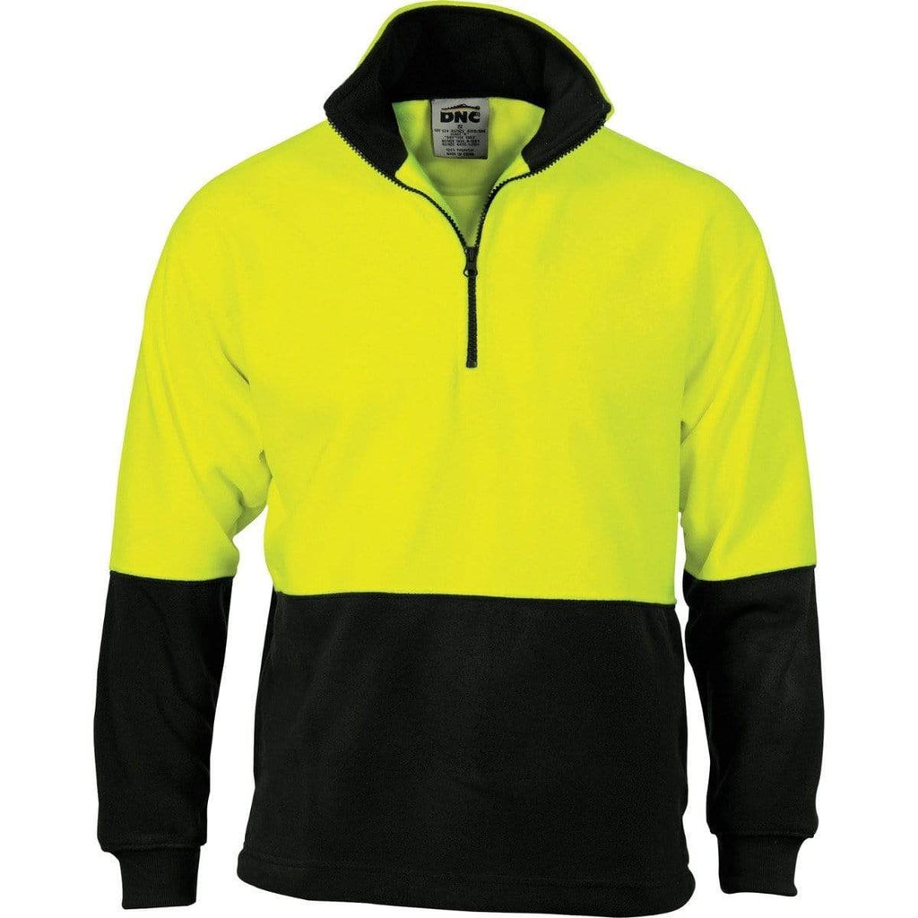 DNC Workwear Work Wear DNC WORKWEAR Hi-Vis Two-Tone 1/2 Zip Polar Fleece 3825