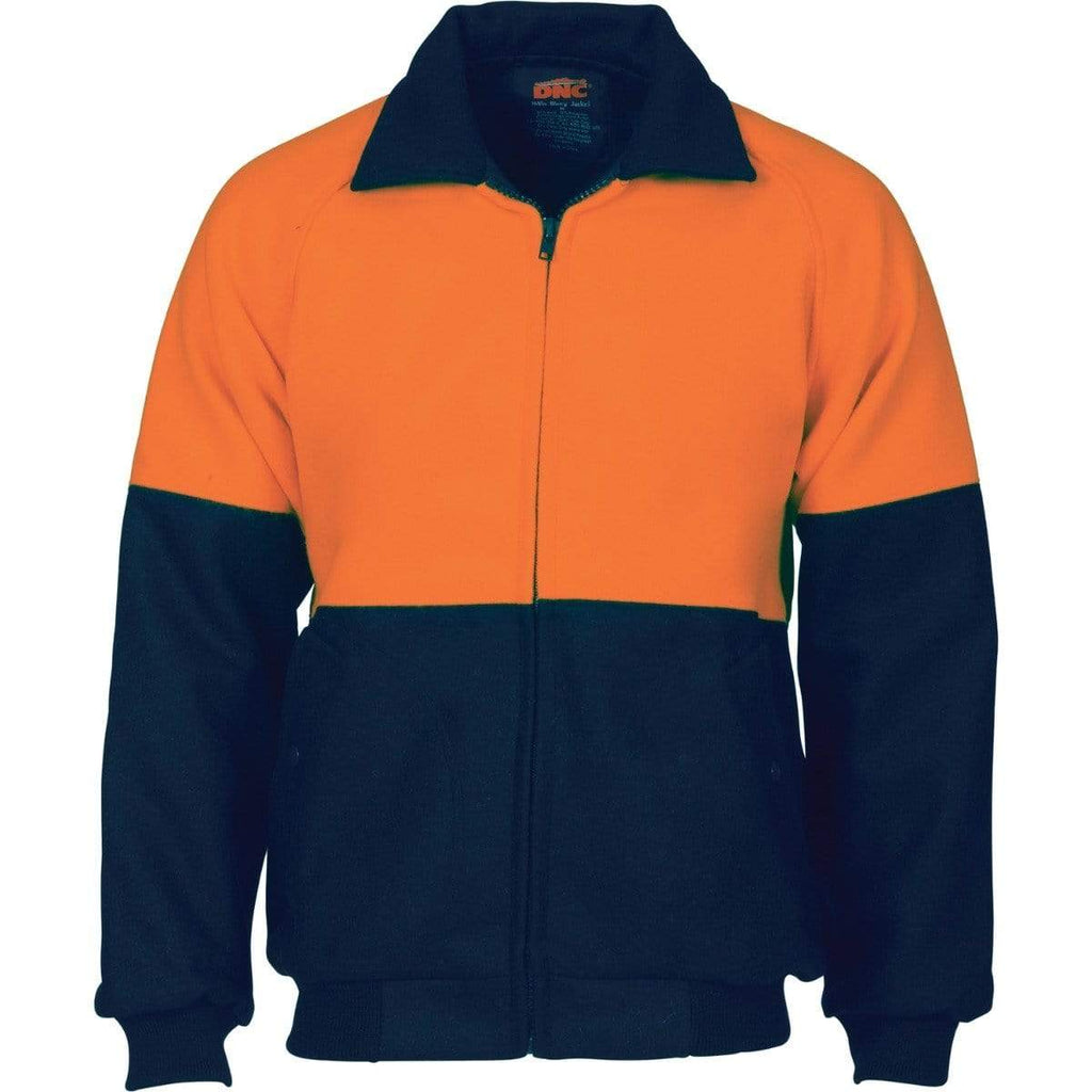 DNC Workwear Work Wear Orange/Navy / S DNC WORKWEAR Hi-Vis Two-Tone Bluey Bomber Jacket 3869