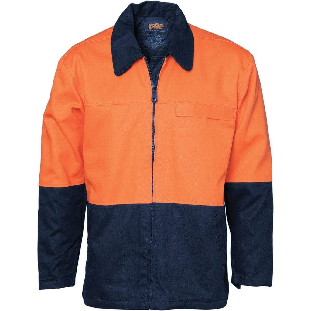 DNC Workwear Work Wear Orange/Navy / XS DNC WORKWEAR Hi-Vis Two-Tone Protector Drill Jacket 3868