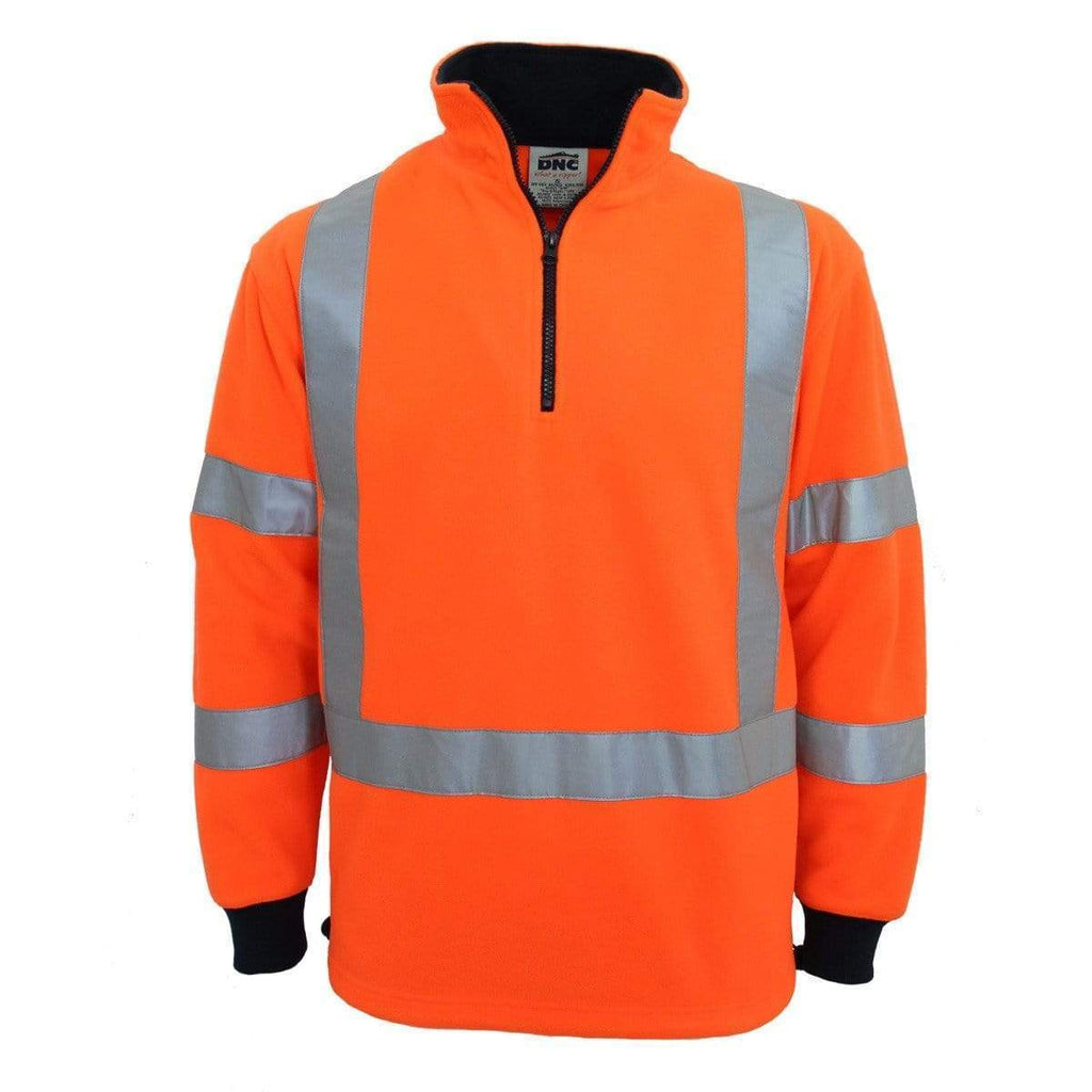 "DNC Workwear Work Wear DNC WORKWEAR Hi-Vis ""X"" back & Bio-motion Taped Polar Fleece 3730"
