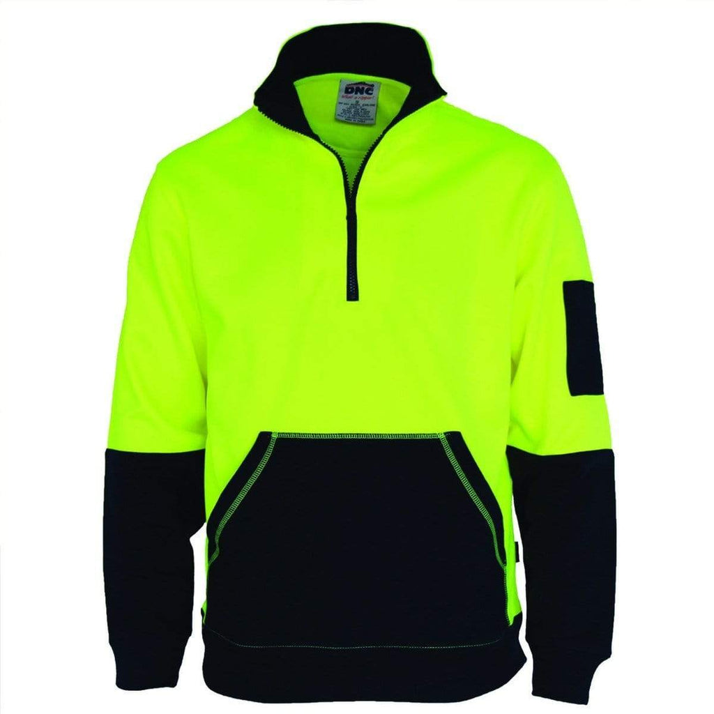 DNC Workwear Work Wear DNC WORKWEAR Hi-Vis ½ Zip Super Fleecy 3724