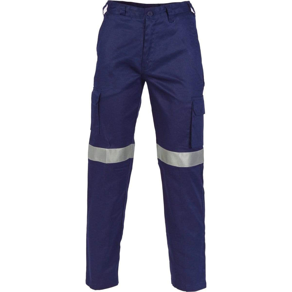 DNC Workwear Work Wear DNC WORKWEAR Lightweight Cotton Cargo Pants with 3M R/Tape 3326