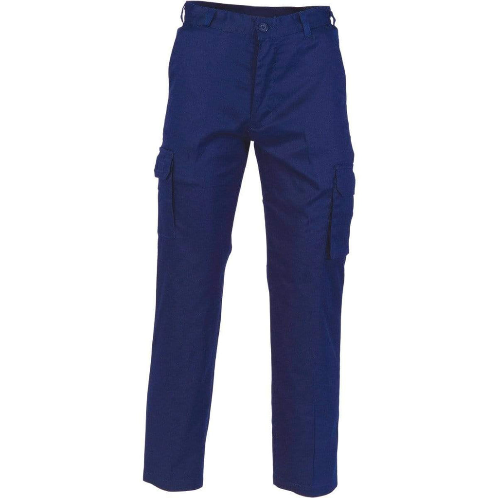 DNC Workwear Work Wear Navy / 72R DNC WORKWEAR Middle Weight Cool - Breeze Cotton Cargo Pants 3320