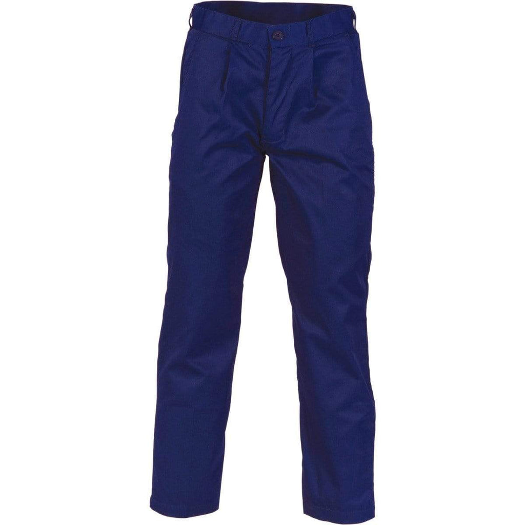 DNC Workwear Work Wear Navy / 77R DNC WORKWEAR Polyester Cotton Pleat Front Work Pants 3315