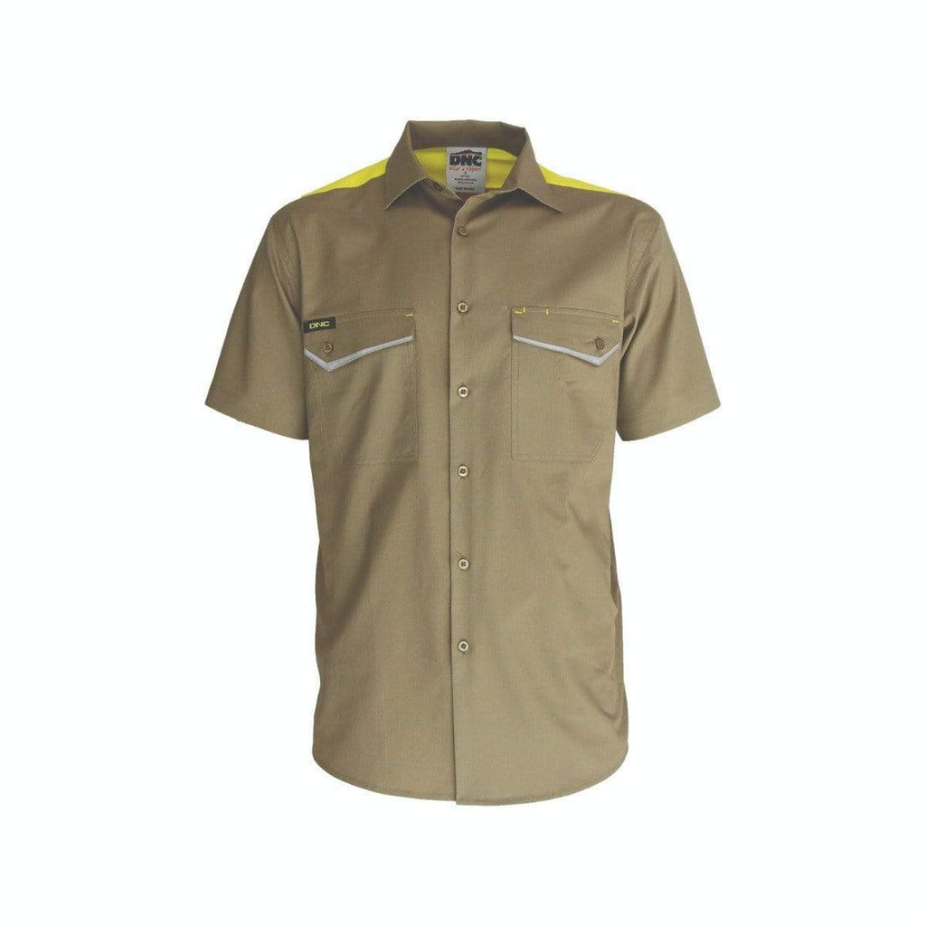 DNC Workwear Work Wear DNC WORKWEAR Ripstop Tradies Short Sleeve Shirt 3581