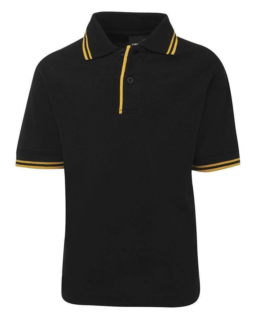 Jb's Wear Casual Wear Black/Gold / 4 JB'S Kid's Contrast Polo