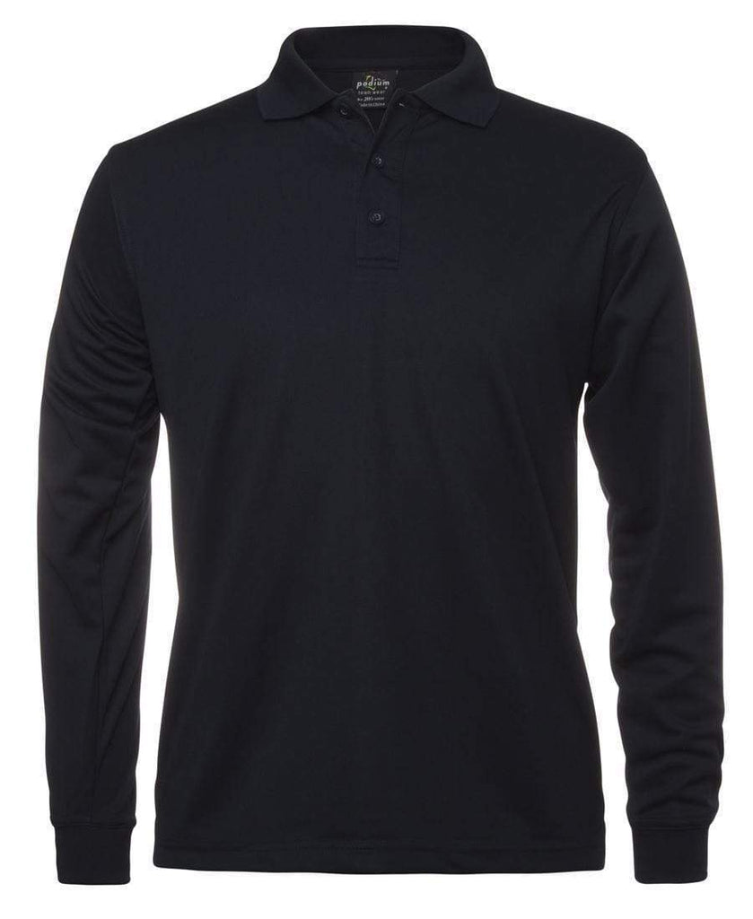 Jb's Wear Casual Wear Navy / S JB'S Long Sleeve Poly Polo 7SPL