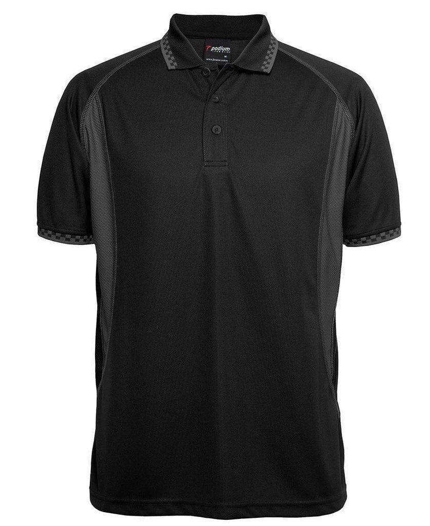 Jb's Wear Casual Wear Black/Charcoal / S JB'S Podium Insert Moto Polo 7IMP