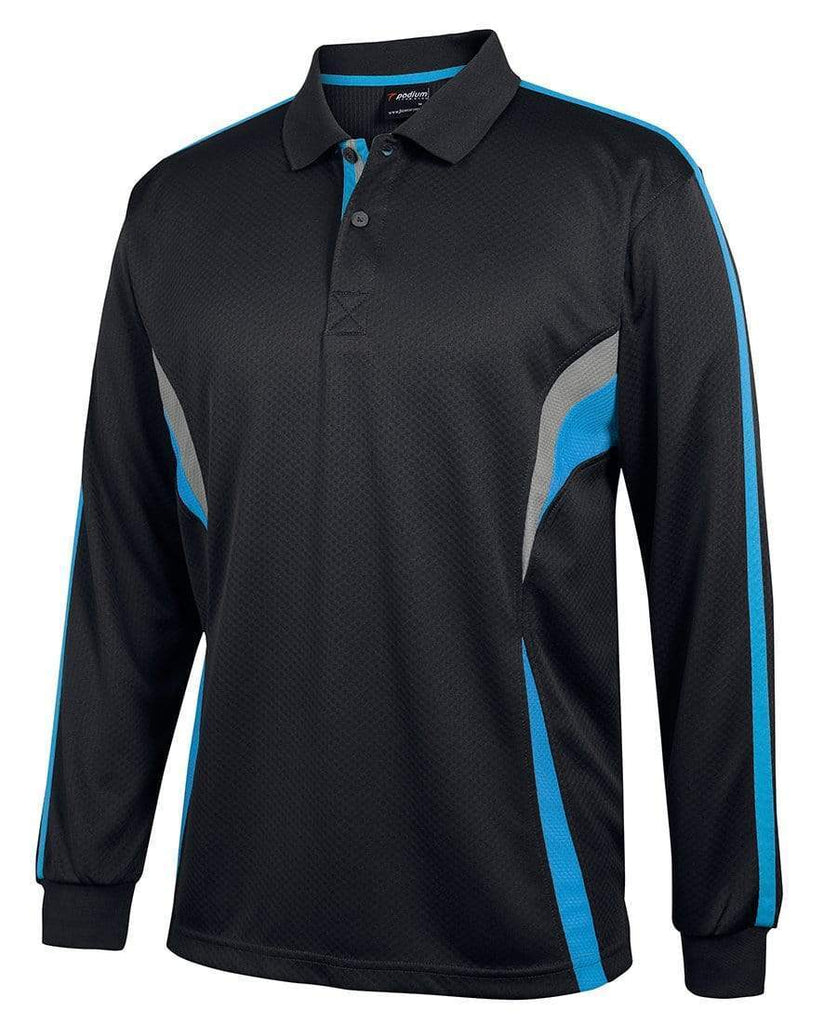 JB'S Wear Casual Wear Black/Aqua/Grey / 2XS JB'S podium long sleeve cool polo 7CLP