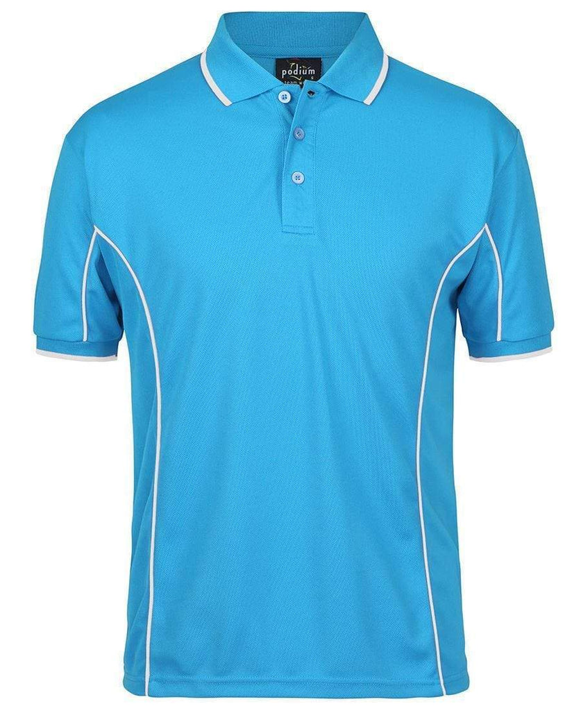 Jb's Wear Casual Wear Aqua/White / S JB'S Short Sleeve Piping Polo 7PIP
