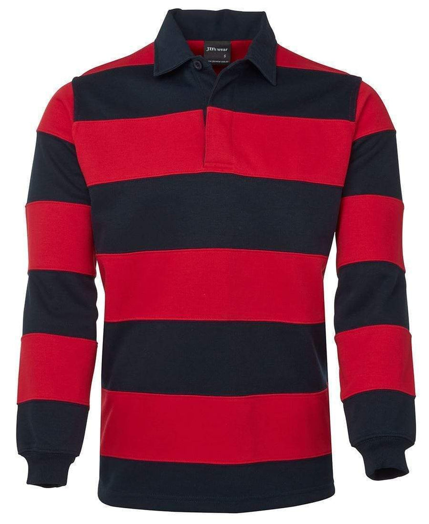 Jb's Wear Casual Wear Navy/Red / S JB'S Striped Rugby