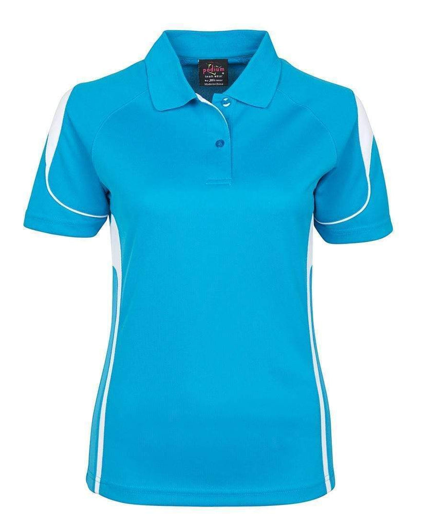 Jb's Wear Casual Wear Aqua/White / 8 JB'S Women's Bell Polo 7BEL1