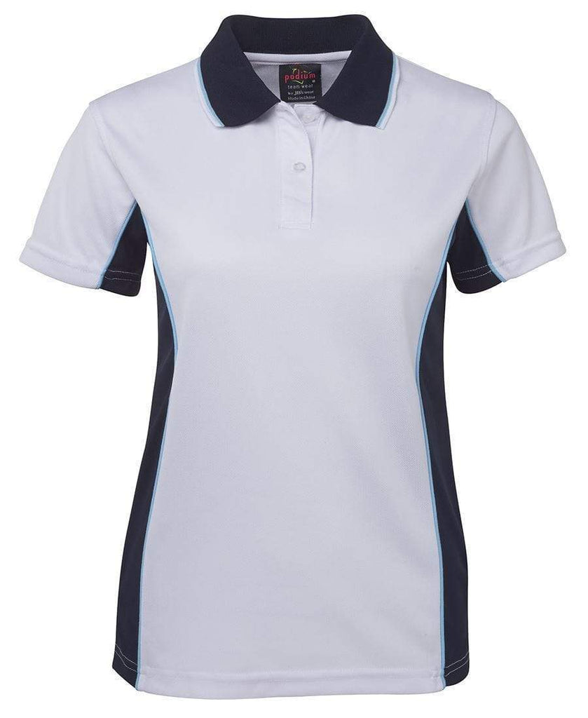 Jb's Wear Casual Wear White/Navy/Lt Blue / 8 JB'S Women's Contrast Polo 7LPP