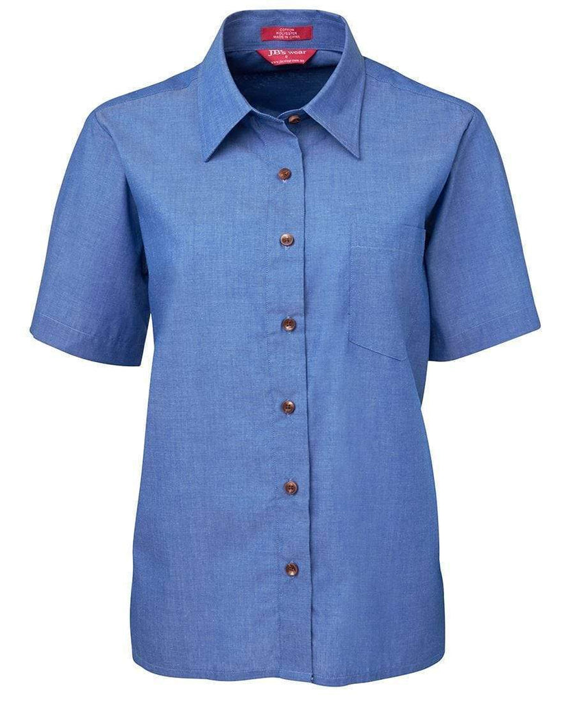 Jb's Wear Corporate Wear Indigo / 6 JB'S Ladies Original Short Sleeve Indigo Chambray Shirt 4LICS